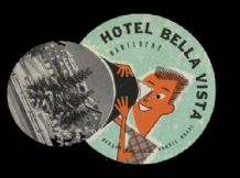 Hotel label luggage labels incredible die-cut  #120